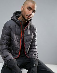 Mens fashion and styles #mensfashion #ad Spyder Geared Hooded Ski Coat