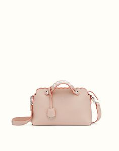 85ec6e1b7cea FENDI BY THE WAY - Small Boston bag in pink leather Fendi By The Way