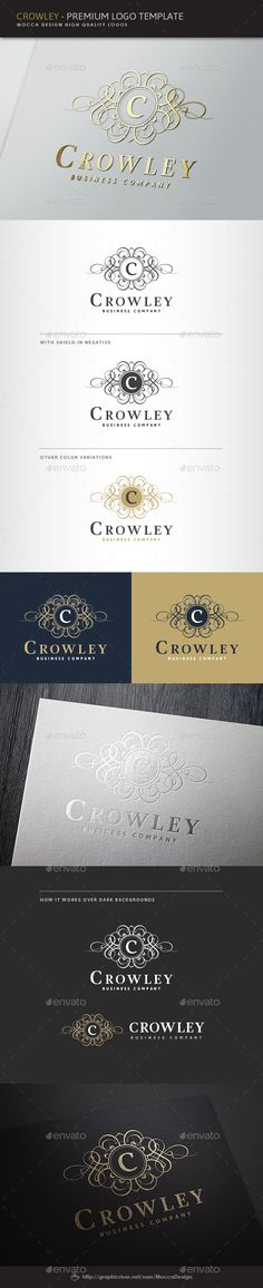 Crowley Logo — Transparent PNG #beautiful crest #fine winery • Available here → https://graphicriver.net/item/crowley-logo/3569122?ref=pxcr