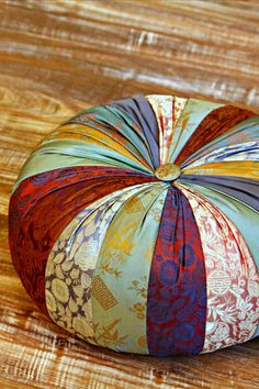 Silk Meditation Yoga Pillow  This beautiful silk patchwork pillow from Vietnam is a perfect Meditation Pillow, Yoga Cushion or an Ottoman for comfy seating on the floor!