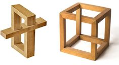 wood picture frame | Beautiful Figures Made Out of Wood | Mighty Optical Illusions