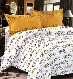 Stay fit motivating cycle bedsheet 100% Cotton bedsheet