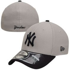 d3b80be076c11 New York Yankees New Era 2-Tone Reverse Diamond Era 39THIRTY Performance  Flex Hat - Gray