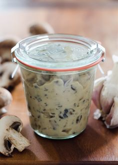 Homemade Condensed Cream of Mushroom Soup Recipe - skip the highly processed canned soup and make your own!
