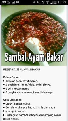 Asparagus in spring entry - Healthy Food Mom Sambal Recipe, Asian Recipes, Healthy Recipes, Malay Food, Indonesian Cuisine, Indonesian Recipes, Spicy Dishes, Malaysian Food, Food Hacks