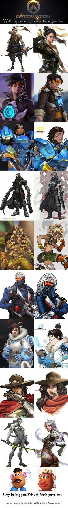 Overwatch characters in opposite gender!