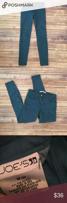 "Joe's Teal Straight Leg Jeans Joe's Jeans.  Teal straight leg jeans.  Inseam 30"" Joe's Jeans Jeans Straight Leg"