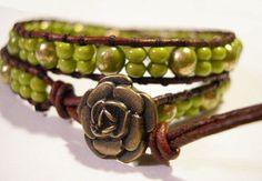 Wrap Bracelet Beaded wrap bracelet Beaded by WrapBraceletsbyLynn