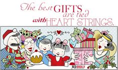 the-best-gifts are tied with heartstrings. -quote -copyright-Red-Brollyblog.com #ChristmasDIY #Christmasquotes #Christmasillustrations
