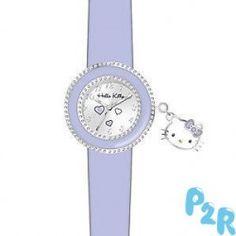 Relógio Analógico Hello Kitty Lilás Em Caixa Metálica.