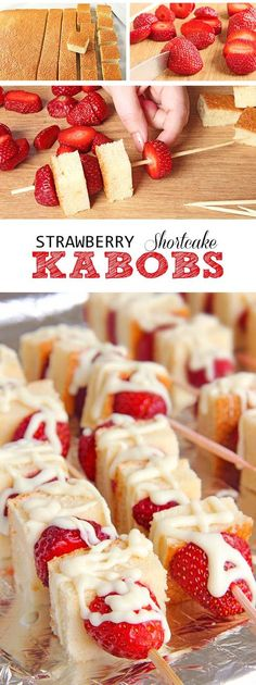 This strawberry Shortcake kabobs are your ticket to becoming a backyard-barbecue legend, perfect for 4th of July any other time you get the hankering to stick shortcake cubes and fruit on a skewer, drizzle with white chocolate and eat yourself sick.