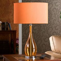 Elizabeth Orange Table Lamp - Table Lamps - Cost Plus World Market