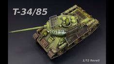 T-34/85 Mod 1944 Bedspring Armor 1/72 Revell - Tank Model - YouTube