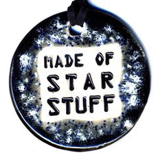Made of Star Stuff Ceramic Necklace in Black and Gray by surly, $20.00