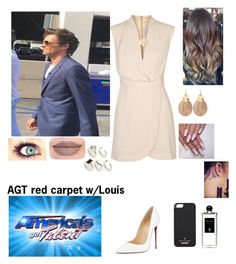 """""""AGT red carpet w/Louis"""" by tiffany-london-1 ❤ liked on Polyvore featuring Finders Keepers, Christian Louboutin, Kate Spade, Jeffree Star, Alexis Bittar, Ginette NY, Oasis and Serge Lutens"""
