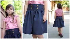 DIY Clothes Refashion: DY(S)G Guest Tutorial- Nautical Dress