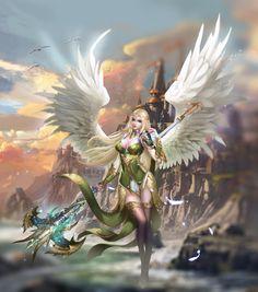 Fantasy girls angels Добро пожаловать зритель в удивительный мир сказки. Можете восхищаться и удивляться! Welcome the viewer to the wonderful world of fairy tales. You can admire and wonder! Fantasy Warrior, Fantasy Girl, Angel Warrior, Fantasy Art Women, Beautiful Fantasy Art, Fantasy Art Angels, Fantasy Character Design, Character Art, Angel Artwork