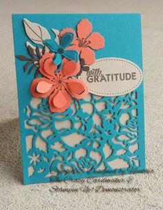 Detailed floral thinlit, botanical blooms, Builder, fun colors, Stampin up