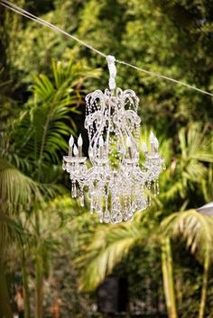 create your own hanging chandelier...