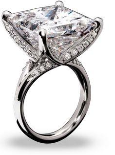 22.25 carat princess cut diamond---WOW!