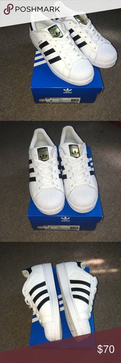 Adidas Superstar Kids Size 6 Kids Size 6, Women's Size 8 Gently used one time! Excellent Conditions! Adidas Shoes Sneakers