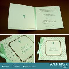 Invitación de bautizo, colores y detalles que puedes personalizar.