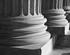 Washington DC Art Columns and Shadows Black and by SolsticePhoto, $20.00