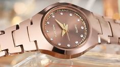 Watch name: Rose Gold Tungsten Steel Strap Women's WatchWatch case: Tungsten steel caseWatch strap: Tungsten steel strapWatch movement: Japanese movementWaterproof: size: Dial diameter: Thickness: Cute Watches, Stylish Watches, Luxury Watches, Ladies Watches, Women's Watches, Vintage Accessories, Fashion Accessories, Watches Photography, Jewelery