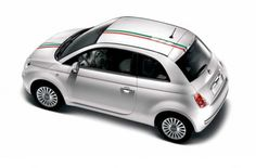 Fiat 500 Italy Bonnet & Roof Stripes (vehicles w/o sunroof) - 50901833