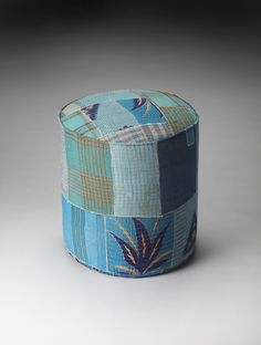 Indigo Patchwork Pouffe by Butler Specialty Company 3376290