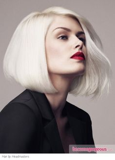 Platinum Long Bob Hair Style - Medium Long Hairstyles Pictures