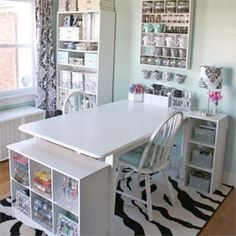Do you drool over clean and creative craft rooms like these?