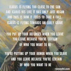 icarus song lyrics bastille