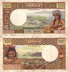Currency of Tahiti Puerto Rico History, Money Notes, Coins Worth Money, Coin Worth, Old Coins, Country Art, Tahiti, Vintage World Maps, Illustration