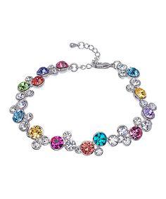 Another great find on #zulily! Purple & Aqua Cluster Bracelet With Swarovski® Crystals #zulilyfinds