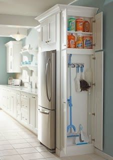 C.B.I.D. HOME DECOR and DESIGN: A KITCHEN WITH DETAILS  or this at the end of your refrigerator