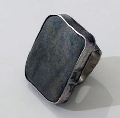 ring sterling silver, pebble from Nature's Valley WC marina louw