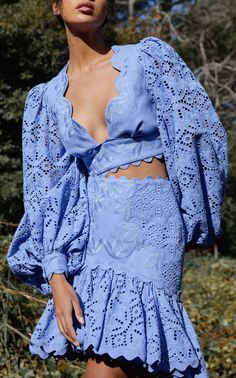 Classy Outfits, Chic Outfits, Spring Outfits, Spring Fashion, High Fashion, Mode Crochet, Cotton Crop Top, Dress To Impress, Ideias Fashion
