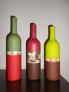 Arte da Elis: Minhas garrafas: arte perfeita!