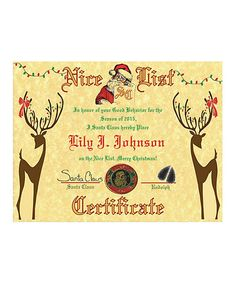 Loving this $5 for $9 Towards a Personalized Nice List Certificate on #zulily! #zulilyfinds