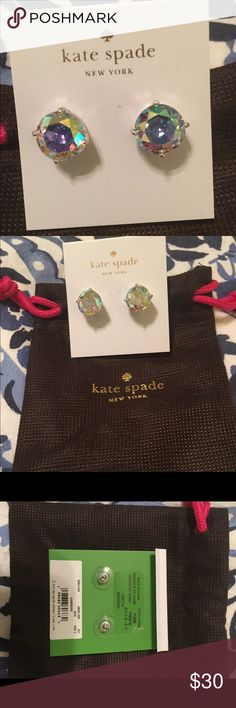 NWT Kate Spade gumdrop studs Absolutely gorgeous sparkling stud earrings from Kate Spade. NWT never taken off card. Comes with dust bag. No trades. kate spade Jewelry Earrings