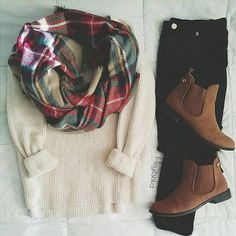 27 Trendy Fall Outfits With Scarves - 27 Trendy Fall Outfits With Scarves fall outfits scarf Trendy Fall Outfits, Fall Winter Outfits, Autumn Winter Fashion, Casual Outfits, Autumn Style, Comfortable Outfits, Winter Dresses, Winter Style, Mode Outfits