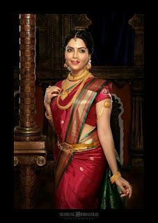 Beautiful Indian Brides in Saree- Exclusive Gallery! Beautiful Indian Brides, Beautiful Saree, Beautiful Indian Actress, Marathi Saree, Marathi Bride, Marathi Nath, Indian Bridal Sarees, Indian Beauty Saree, Indian Dresses