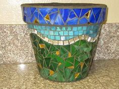 Mosaic pots | This pot is HUGE! :) Now...what to fill it … | Flickr - Photo Sharing!