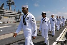 Sailors man the rails aboard USS Theodore Roosevelt. | Flickr - Photo Sharing!