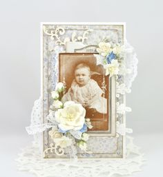 Stempelglede :: Vintage Baby - card made by Cathrine Sandvik - DT.