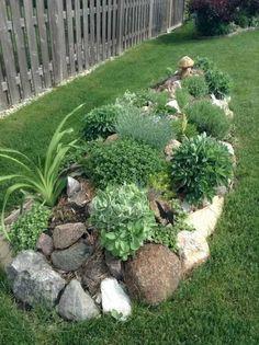48 Simple Rock Garden Decor Ideas For Your Backyard – Garden Ideas – Garden Design Landscaping With Rocks, Front Yard Landscaping, Backyard Landscaping, Landscaping Design, Backyard Ideas, Landscaping Software, Modern Backyard, Large Backyard, Gardening With Rocks