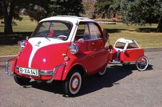 BMW Isetta 300 – with a little trailer in case you couldn't fit everything.