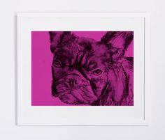 French Bulldog Frenchie wall print watercolor painting art Poster print Modern home decor frenchie gift idea by… #dogs #etsy #art