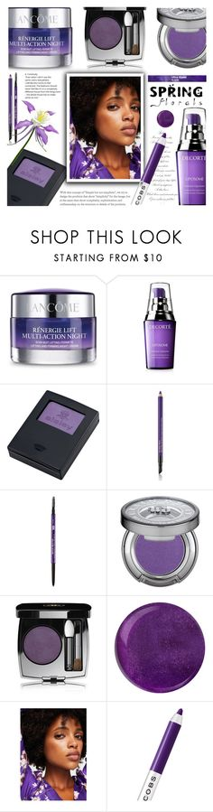 """Ultraviolet Spring Beauty - TBS 8.Feb.2018"" by crochetragrug ❤ liked on Polyvore featuring beauty, Lancôme, Decorté, Sisley, Estée Lauder, Urban Decay, Chanel, MANGO and Marc Jacobs"